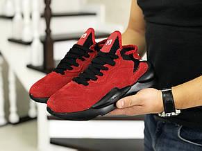 Кроссовки (в стиле) мужские Adidas Y-3 Kaiwa,замшевые,красные, фото 2