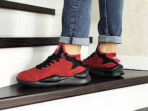 Кроссовки (в стиле) мужские Adidas Y-3 Kaiwa,замшевые,красные, фото 3