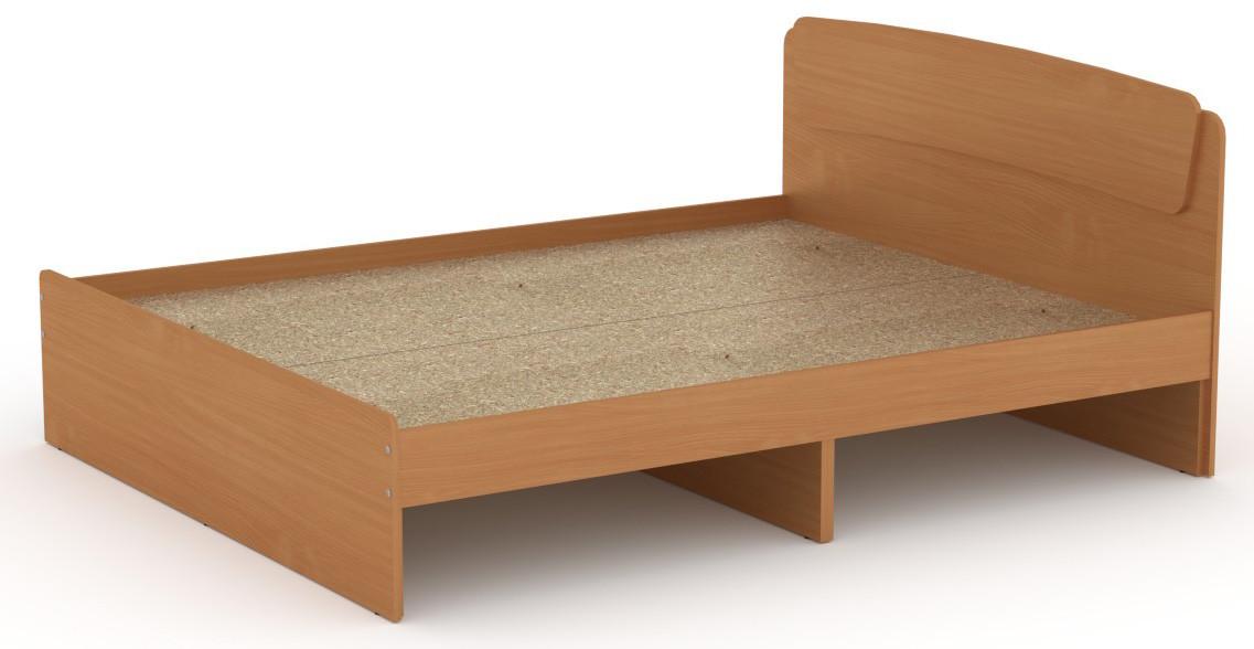Кровать без ящиков Классика-160 КОМПАНИТ Бук (204.2х165.2х86 см)