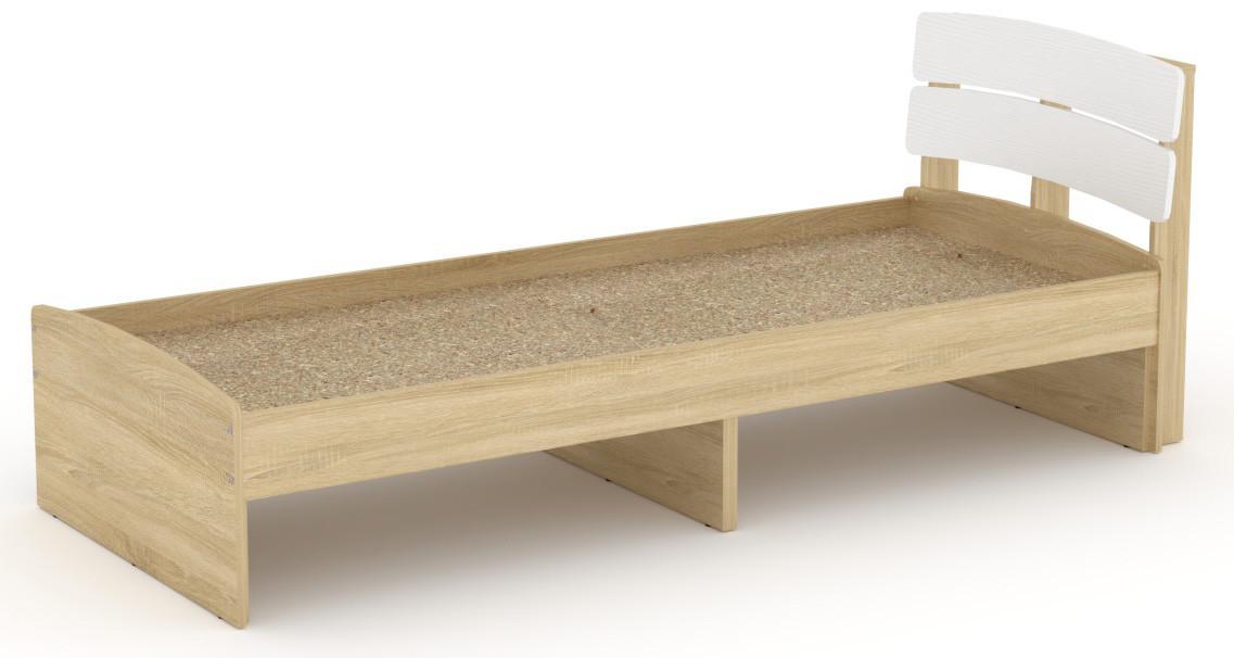 Кровать без ящиков Модерн-80 КОМПАНИТ Дуб комби (213.2х85.2х80 см)