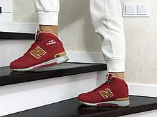 Женские зимние кроссовки (в стиле) New Balance 1300,нубук,красные, фото 2