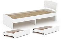 Кровать с 2 ящиками Модерн-80 КОМПАНИТ Альба (213.2х85.2х80 см)