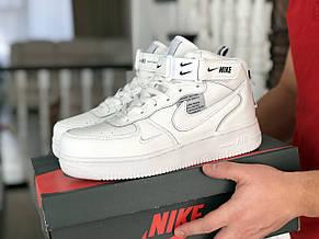 Мужские демисезонные кроссовки (в стиле) Nike Air Force,белые, фото 2