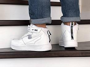Мужские демисезонные кроссовки (в стиле) Nike Air Force,белые, фото 3