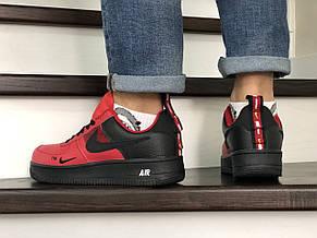 Мужские демисезонные кроссовки (в стиле) Nike Air Force,красные с черным, фото 3