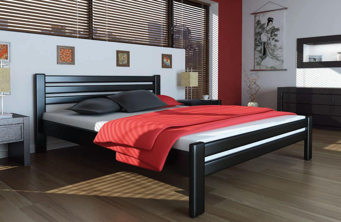 Кровать деревянная Премьера 160х200 Mebigrand сосна венге