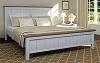 Кровать деревянная Мебигранд Верджиния(S2010-R80B) 180х200 сосна голубая/темный орех