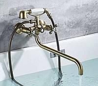 Змішувач для ванни з довгим виливом SANTEP 14900 Бронза, фото 1