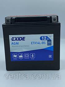 Мото аккумулятор EXIDE ETX14L-BS 12Ah
