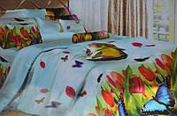 Постельное полуторное белье  Лилия с HD эффектом  - тюльпаны