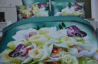 Постельное полуторное белье  Лилия HD - букет роз