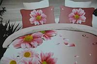 Постельное белье полуторное Лилия с  HD эффектом - хризантемы