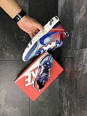 Мужские кроссовки (в стиле) Nike Undercover X Nike React Element 87,синие с красным, фото 2