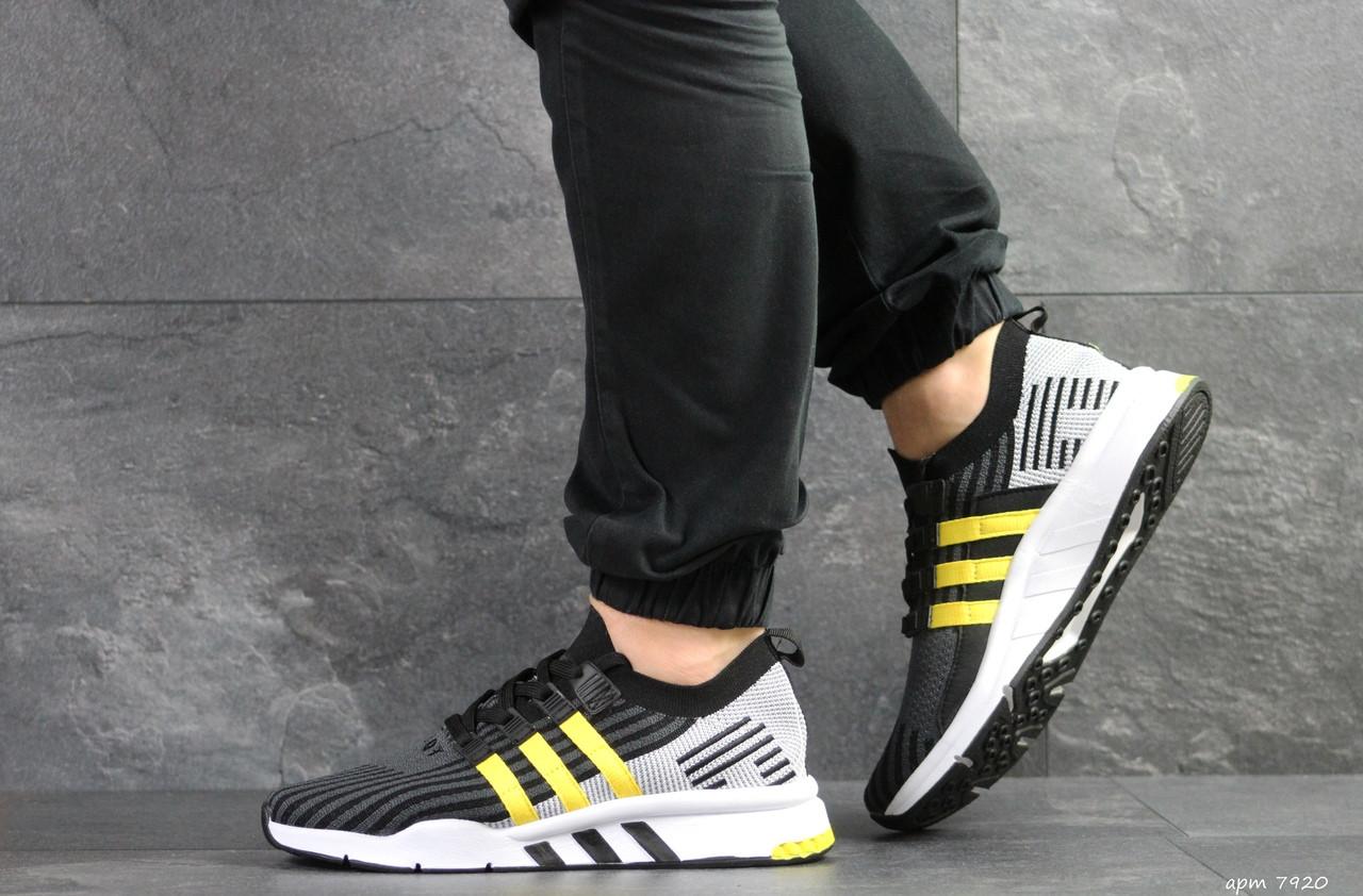 Кроссовки (в стиле) мужские Adidas Equipment adv 91/18,черные с желтым