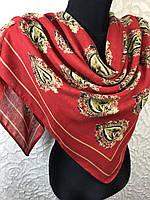 Брендовый красный платок шерстяной DOLCE GABBANA (5)