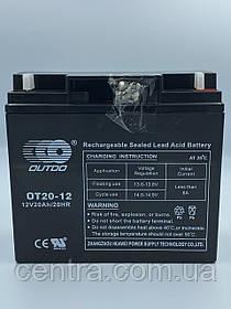 Гелевый аккумулятор OUTDO 12V-20Ah (12V20Ah/20HR) OT20-12