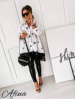 Жіноча стильна подовжена блузка Батал