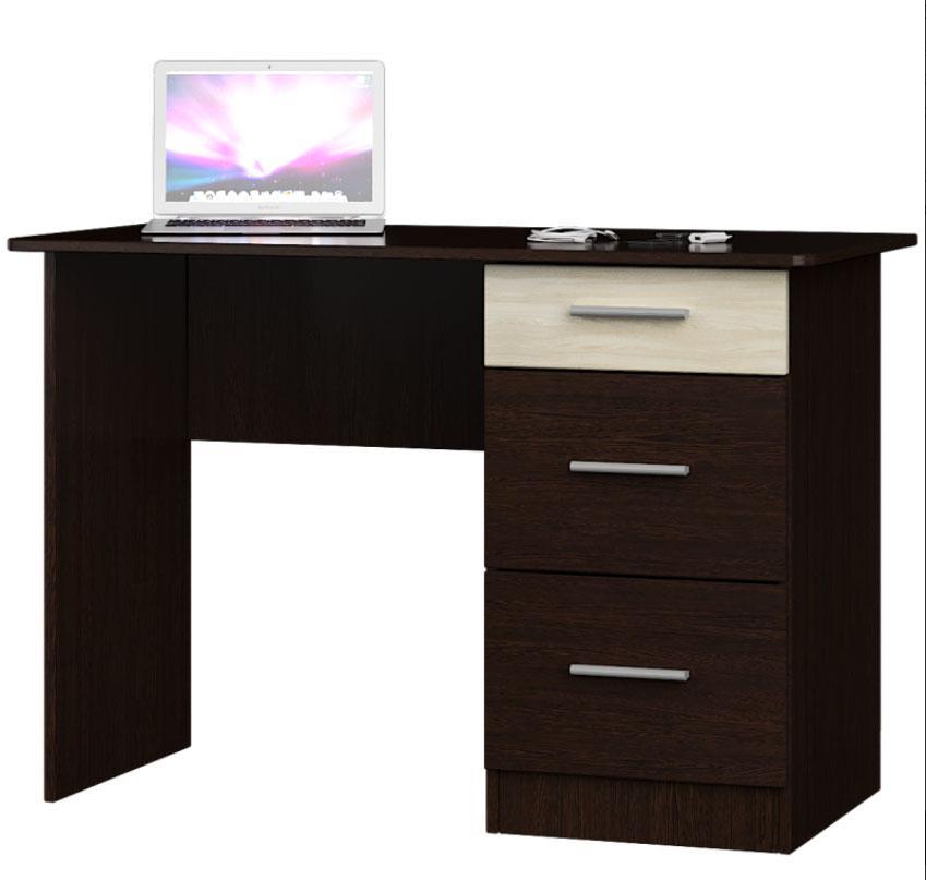 Стол письменный Школьник-4 венге темный + дуб молочный (110х55х75 см)