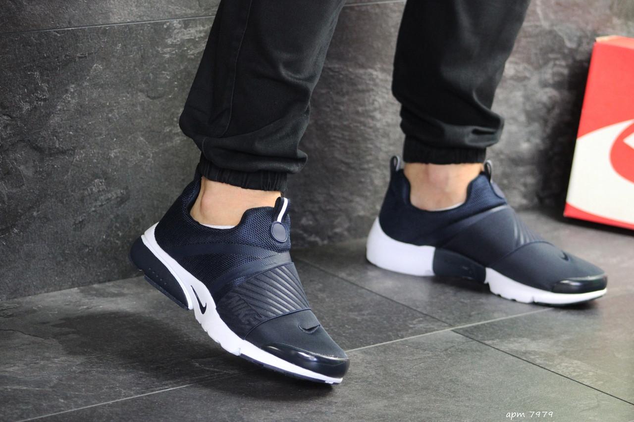Мужские кроссовки (в стиле) Nike air presto,текстиль,темно синие с белым