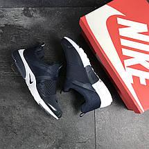 Мужские кроссовки (в стиле) Nike air presto,текстиль,темно синие с белым, фото 2