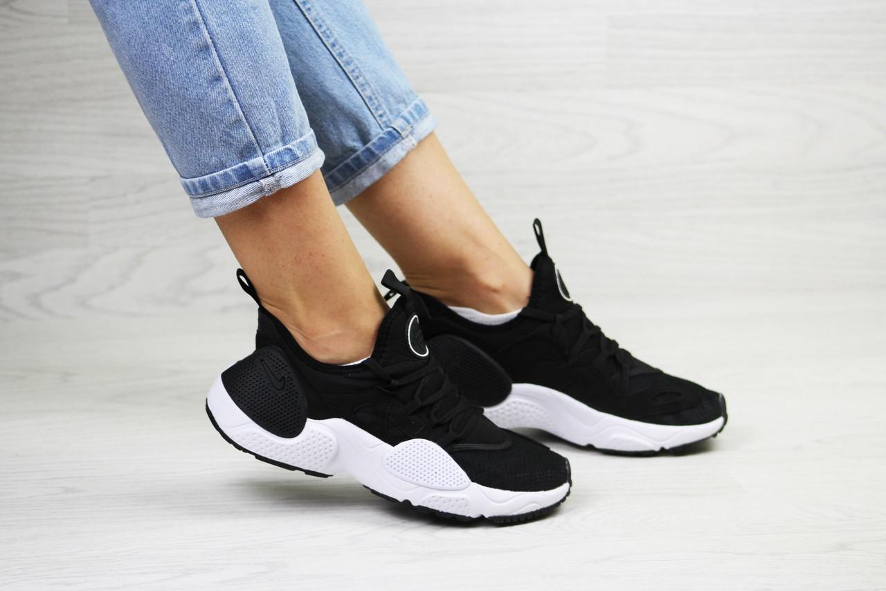 Женские черно-белые кроссовки (в стиле) Nike Air Huarache E.D.G.E, сетка
