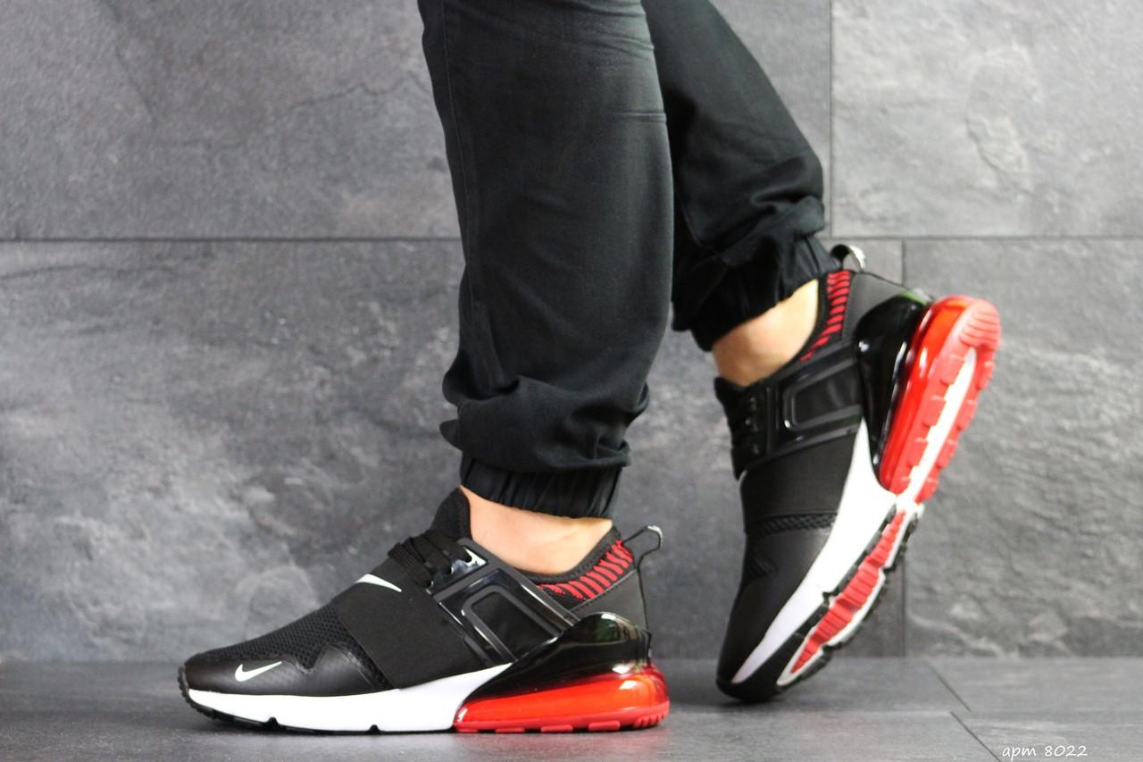 Мужские кроссовки (в стиле) Nike,сетка,черные с красным