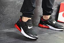 Мужские кроссовки (в стиле) Nike,сетка,черные с красным, фото 3