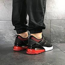 Мужские кроссовки (в стиле) Nike,сетка,черные с красным, фото 2