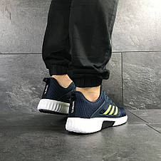 Кроссовки (в стиле) мужские Adidas ClimaCool,синие с салатовым, фото 3