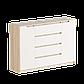 Комод для спальни Микс-3 ролики Эверест сонома + белый (140х38х95 см), фото 3