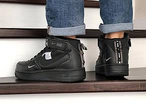 Мужские демисезонные кроссовки (в стиле) Nike Air Force,черные, фото 3