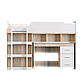 Кровать-чердак 2 с матрасом сонома + белый Эверест (193х96х137 см), фото 2