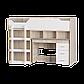 Кровать-чердак 2 с матрасом сонома + белый Эверест (193х96х137 см), фото 4