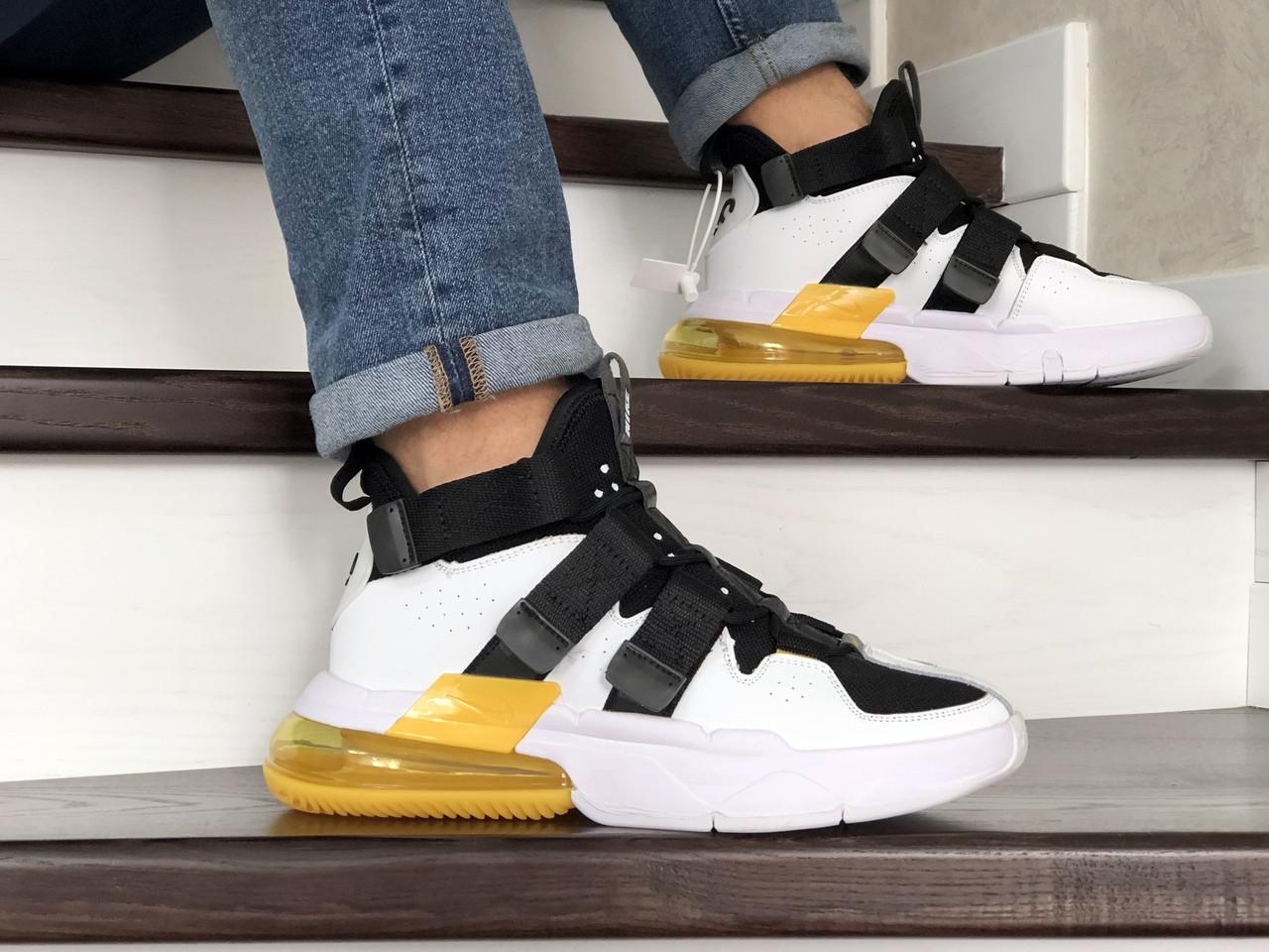 Модные мужские кроссовки (в стиле) Nike Air Force 270, белые с черным