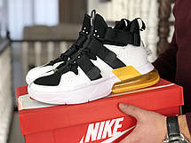 Модные мужские кроссовки (в стиле) Nike Air Force 270, белые с черным, фото 2