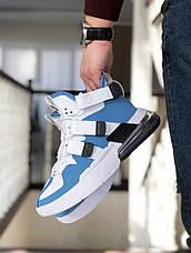 Модные мужские кроссовки (в стиле) Nike Air Force 270, белые с голубым, фото 3