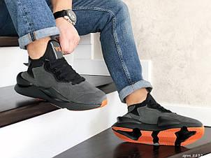 Кроссовки (в стиле) мужские Adidas Y-3 Kaiwa,замшевые,серые, фото 2
