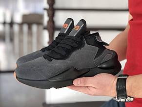 Кроссовки (в стиле) мужские Adidas Y-3 Kaiwa,замшевые,серые, фото 3