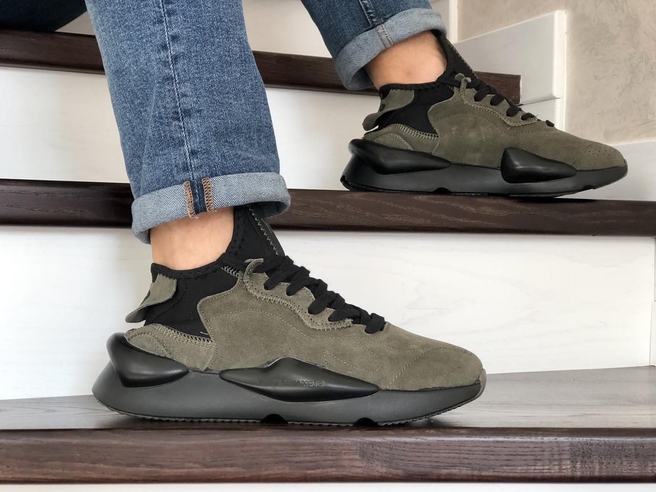 Кроссовки (в стиле) мужские Adidas Y-3 Kaiwa,замшевые,хаки