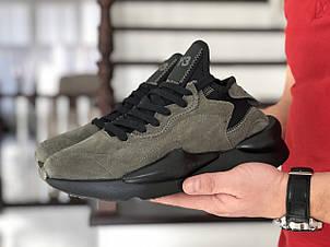 Кроссовки (в стиле) мужские Adidas Y-3 Kaiwa,замшевые,хаки, фото 2