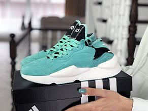 Кроссовки (в стиле) женские Adidas Y-3 Kaiwa замшевые,мятные, фото 2