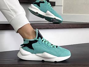 Кроссовки (в стиле) женские Adidas Y-3 Kaiwa замшевые,мятные, фото 3