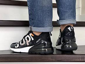 Модные кроссовки (в стиле) Nike air max 270 x Supreme,черно белые, фото 3