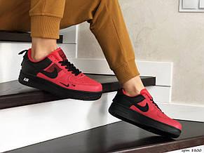 Подростковые (женские) кроссовки (в стиле) Nike Air Force,красные с черным, фото 2