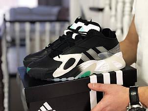Мужские кроссовки (в стиле) Adidas Streetball ,черно белые, фото 2