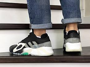 Мужские кроссовки (в стиле) Adidas Streetball ,черно белые, фото 3