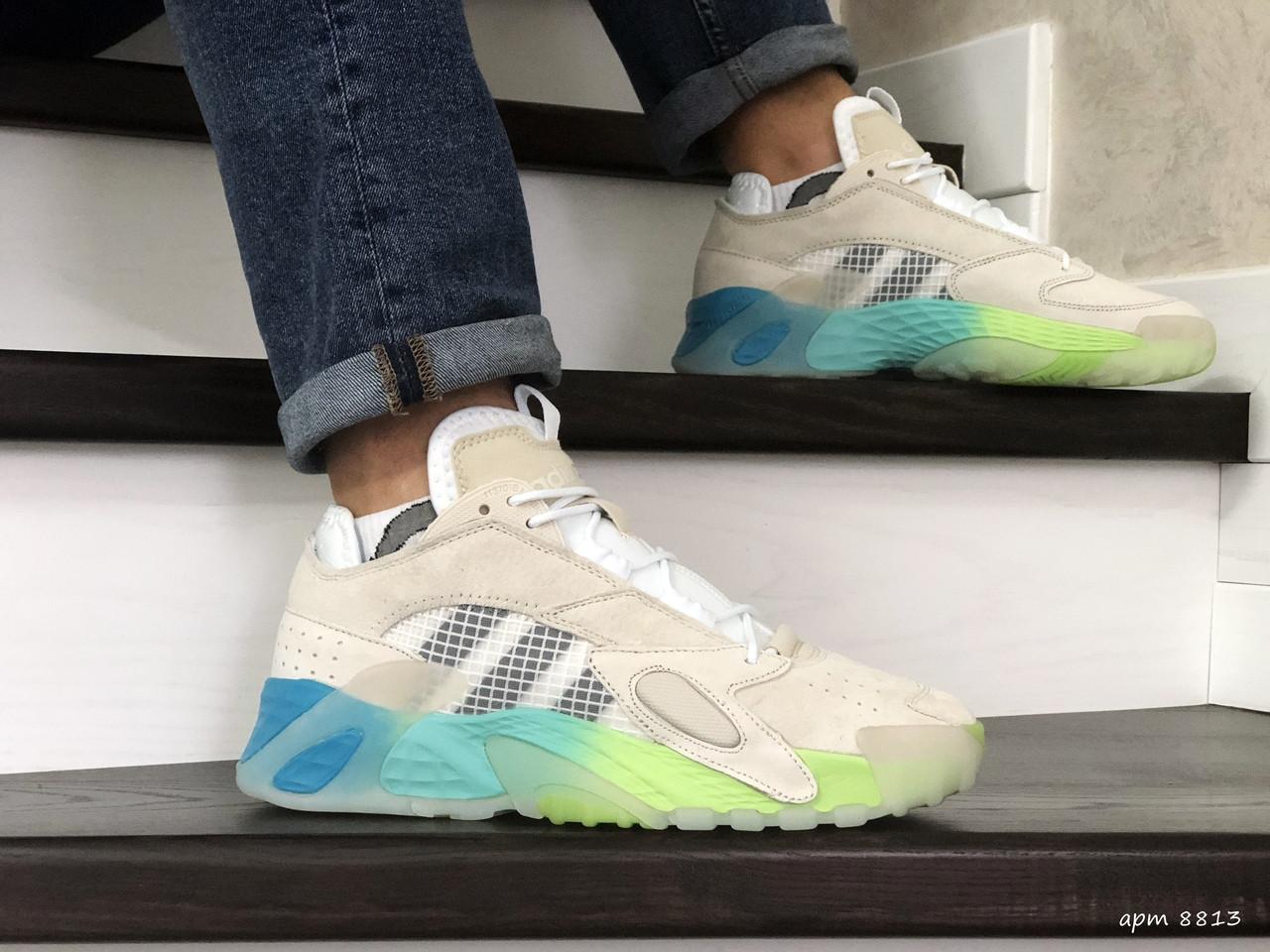 Мужские кроссовки (в стиле) Adidas Streetball,бежевые