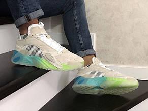 Мужские кроссовки (в стиле) Adidas Streetball,бежевые, фото 2