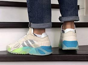 Мужские кроссовки (в стиле) Adidas Streetball,бежевые, фото 3