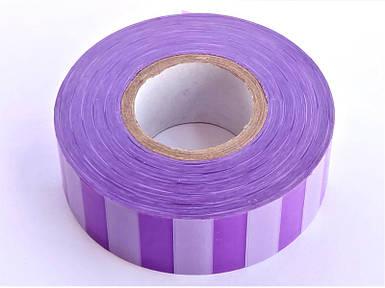 Полоса Gieffe для обозначения растений, 2,5см*100м фиолетово-белая